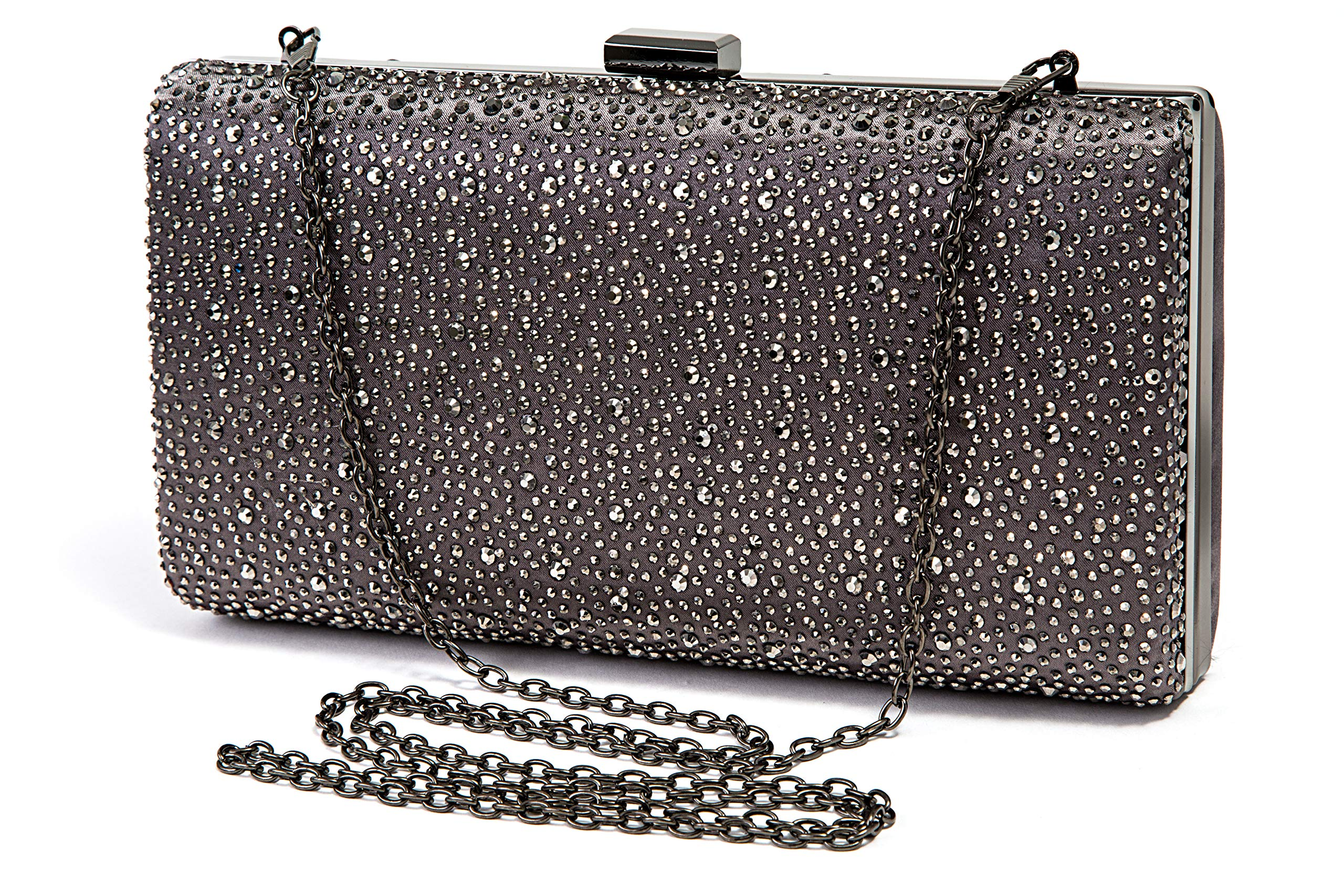 Evening clutch, DISCO PEWTER