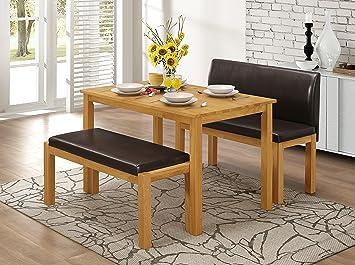 Amazing Greenheart Furniture Ireland Hamra Bench Dining Set In Oak Machost Co Dining Chair Design Ideas Machostcouk