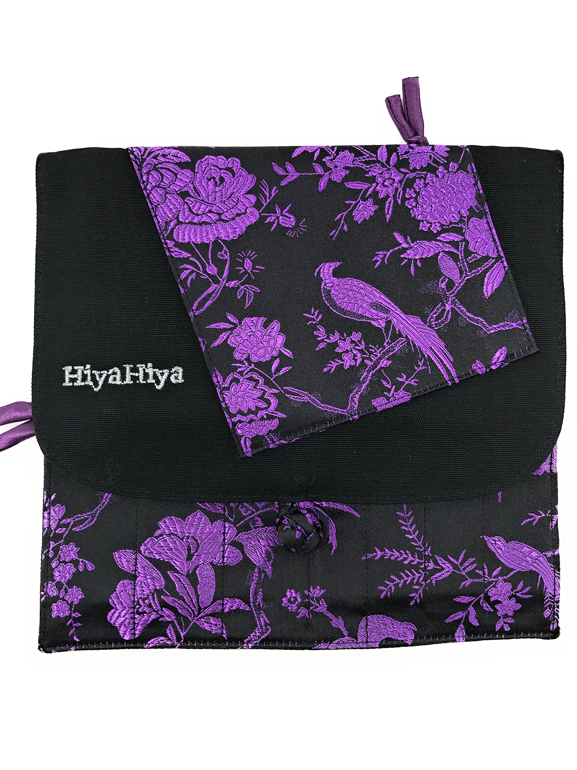 HiyaHiya Interchangeable Knitting or Crochet Needle Cases (purple & black)