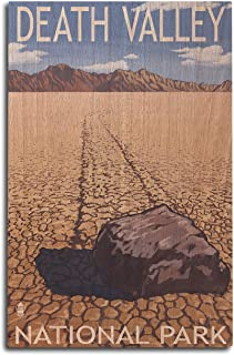 product image for Lantern Press Death Valley National Park, California - Moving Rocks (10x15 Wood Wall Sign, Wall Decor Ready to Hang)