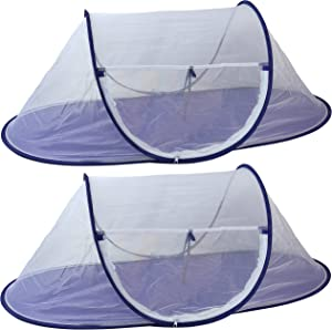 Iconikal Large Folding Mesh Wind-Resistant Food Tent 43 x 21 inches, 2-Pack