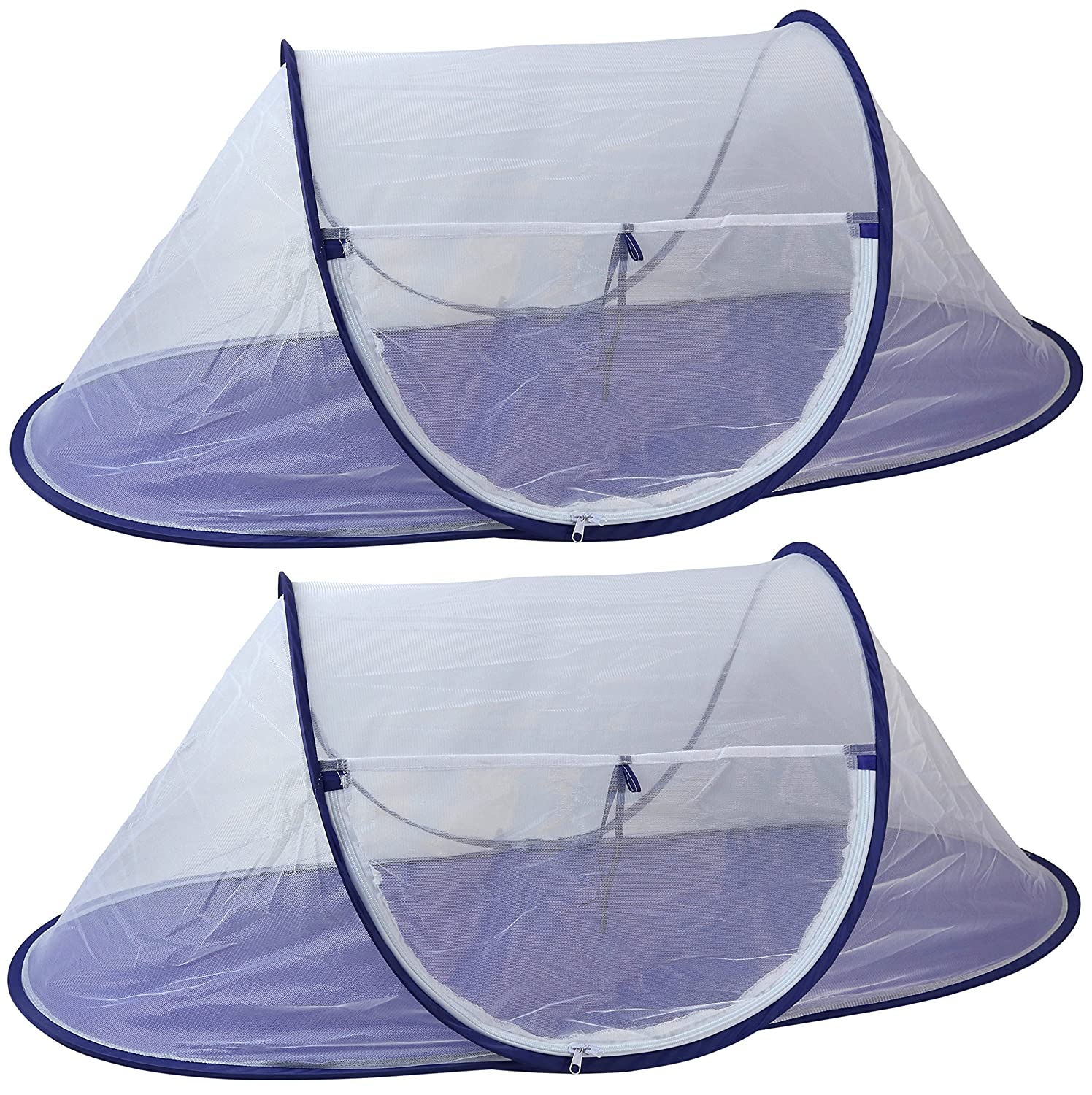 Large Folding Mesh Wind-Resistant Food Tent 43 x 21 inches, 2-Pack by Iconikal