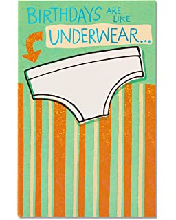 Amazon hallmark shoebox funny humor birthday greeting card 4 american greetings funny birthday card with foil funny underwear 5760188 bookmarktalkfo Choice Image