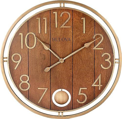Bulova Panel Time Oversize Wall Clock