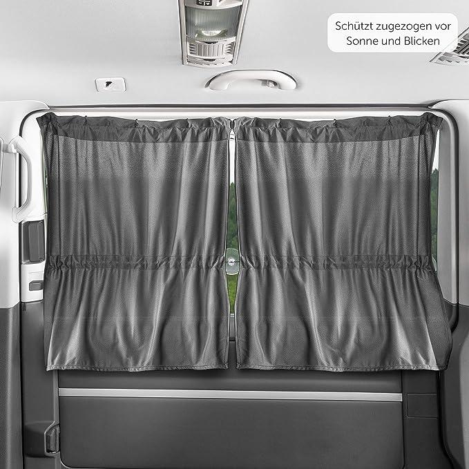per Pulmino e Minibus Scudo Mercedes Vito Es: Fiat Ducato Zamboo Tendine per Finestrini Laterali Montaggio Facile con Ventose Grigie