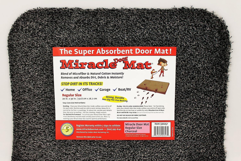 Amazon Miracle Door Mat 30x40 Charcoal Garden Outdoor