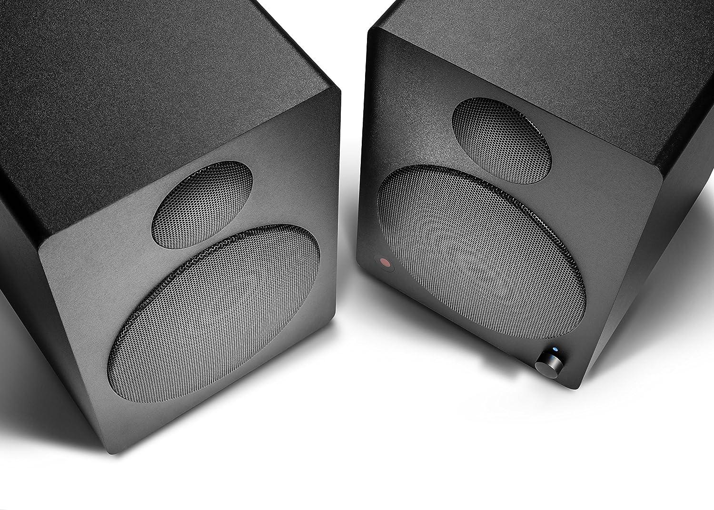 Wavemaster Cube Neo Black Regallautsprecher System 50 Watt Mit Bluetooth Streaming Digitalanschluss Und Ir Fernbedienung Aktiv Boxen Nutzung Für Tv Tablet Smartphone Schwarz 66380 Audio Hifi
