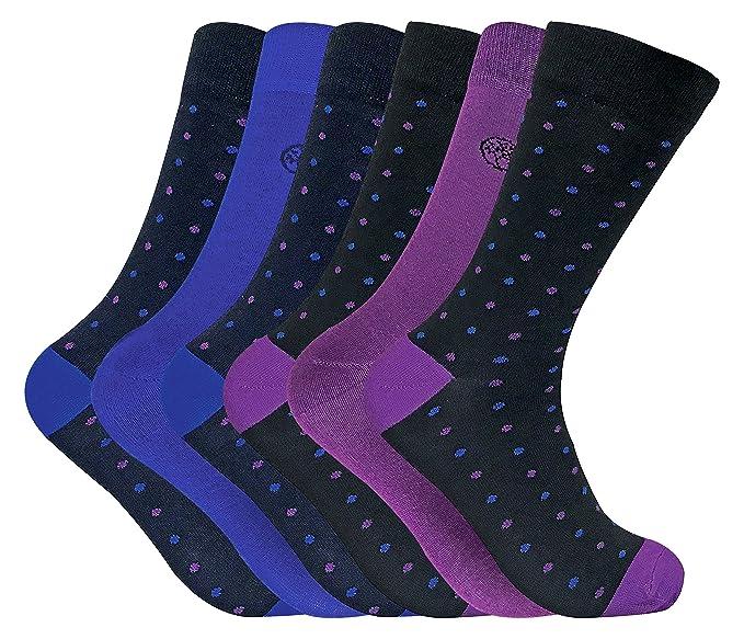 6 pares calcetines hombre bambu