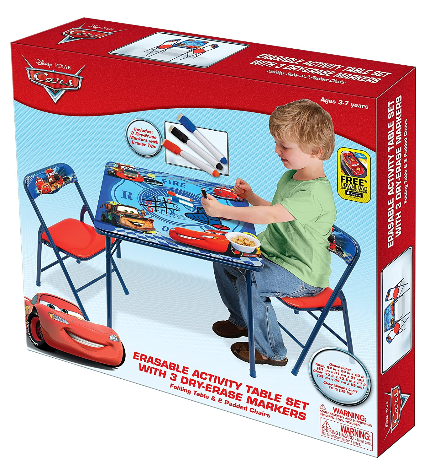 Amazon.com Disney Cars Hometown Heroes Erasable Activity Table Set with 3 Markers Toys u0026 Games  sc 1 st  Amazon.com & Amazon.com: Disney Cars Hometown Heroes Erasable Activity Table Set ...