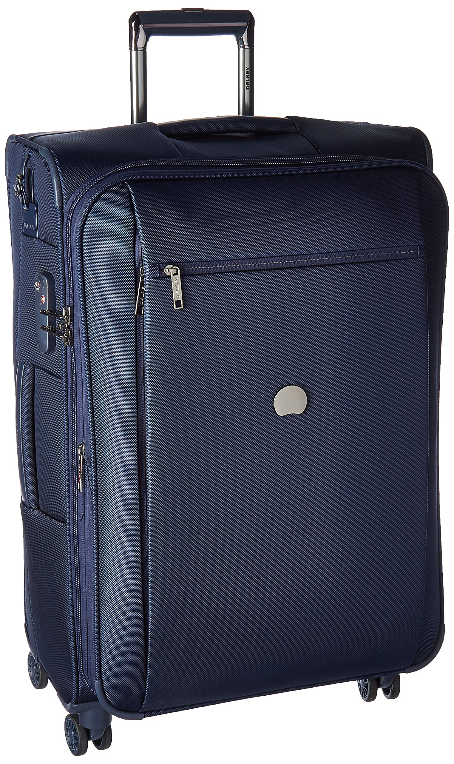 Delsey Luggage Montmartre+ 25 Inch Expandable Softside Spinner Suitcase, Navy