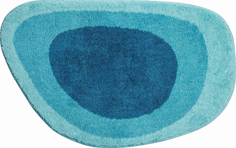 Grund Badteppich 100% Polyacryl, ultra soft, rutschfest, ÖKO-TEX-zertifiziert, 5 Jahre Garantie, LAKE, Badematte 60x90 cm, türkis