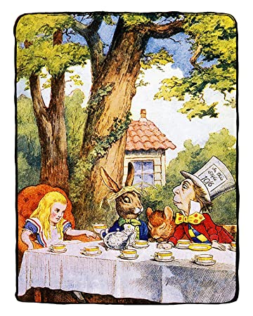 Amazoncom 8x10 Alice In Wonderland Decorations The Mad Hatter Tea