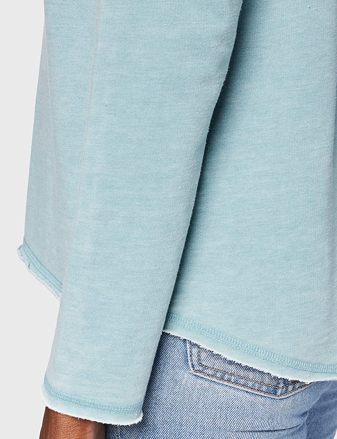 Herrlicher Damen Freyja Sweat Burn Out Sweatshirt Teal 429