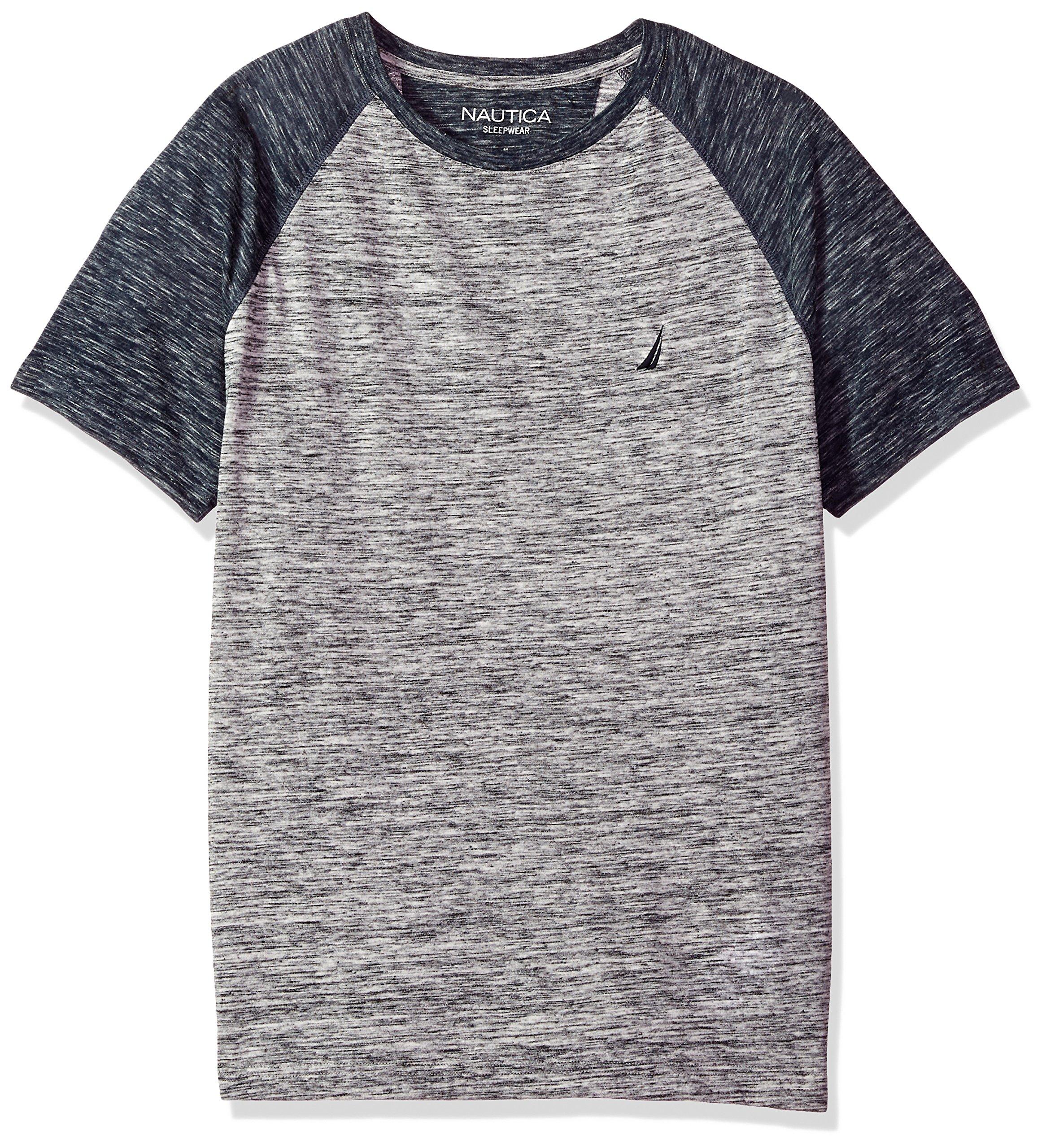 Nautica Men's Comfort Space Dye Contrast Tee, Gray/Gray, Medium
