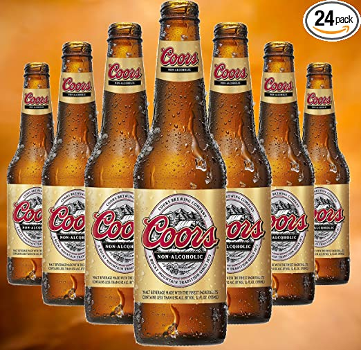 Coors Cerveza no alcohólica, 12 oz (11.8 fl oz) Caja de ...
