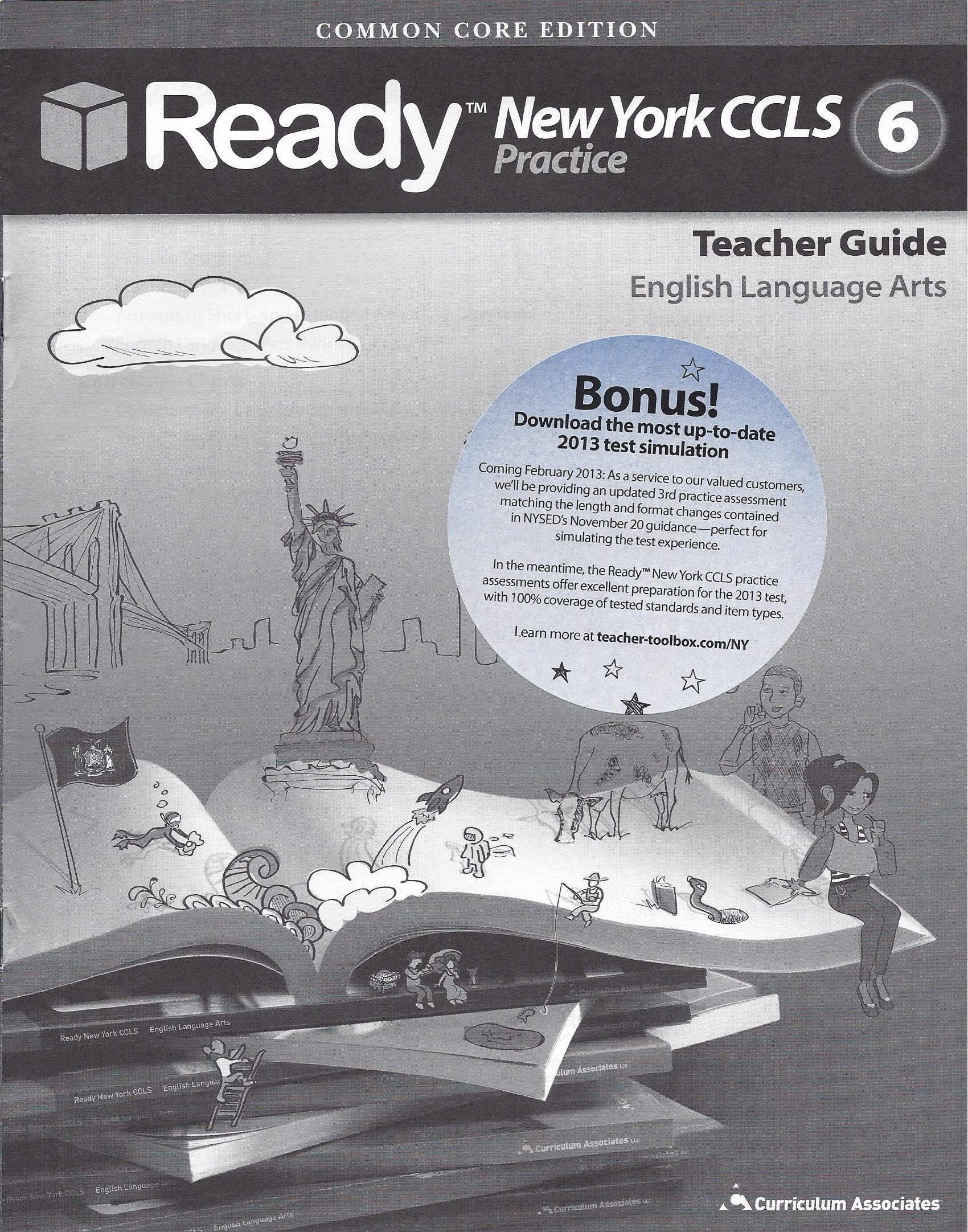 Amazon Com Ready Common Core New York Ccls Grade 6 Ela Practice Teacher S Guide Ready Books