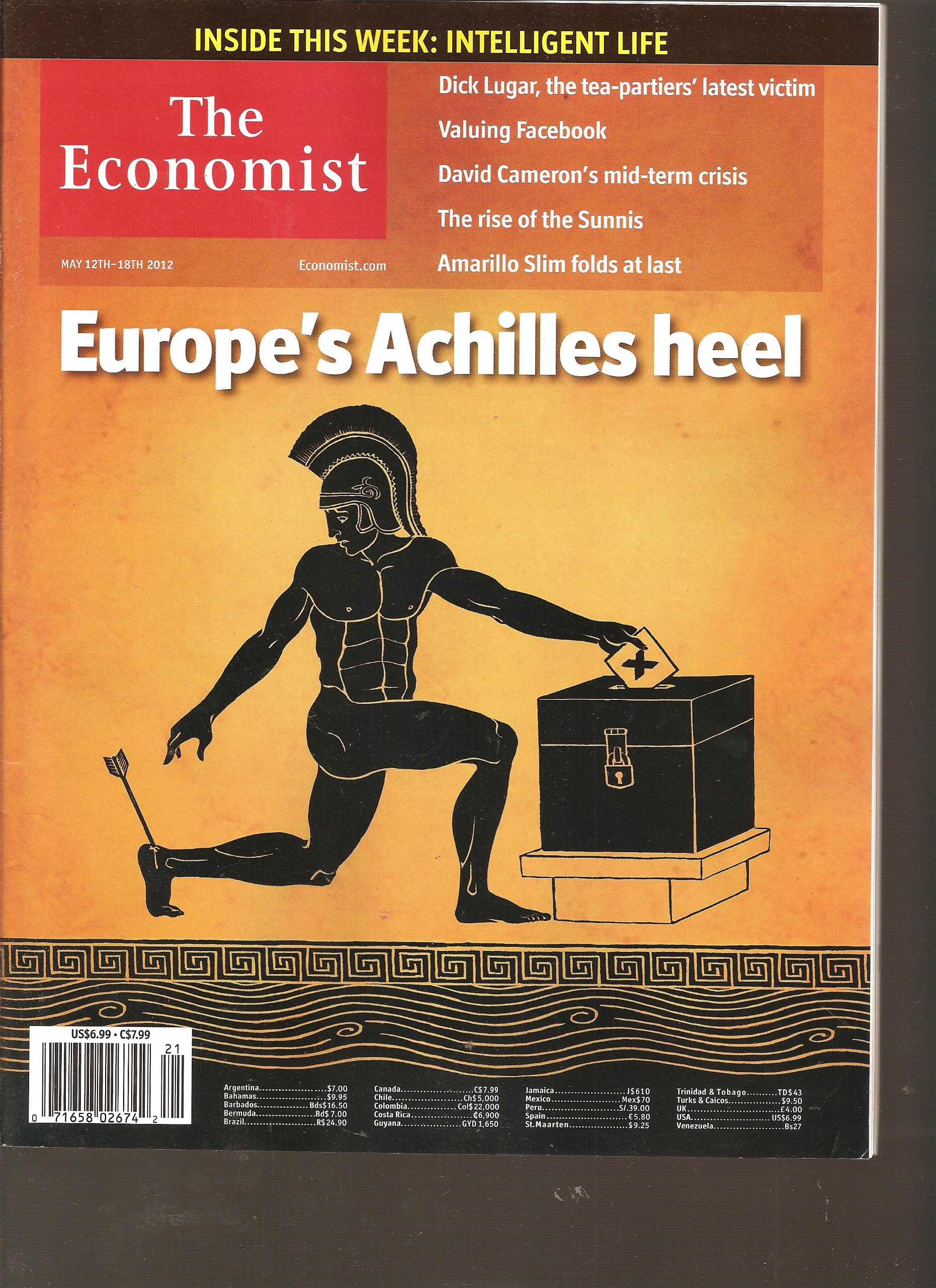 The Economist Magazine (May 12th-18th 2012) Single Issue Magazine – 2012