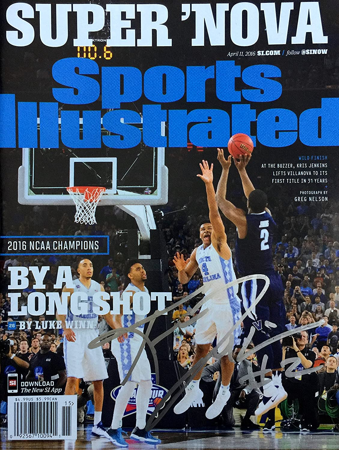 Kris Jenkins VILLANOVA WILDCATS autographed Sports Illustrated magazine 4/11/16