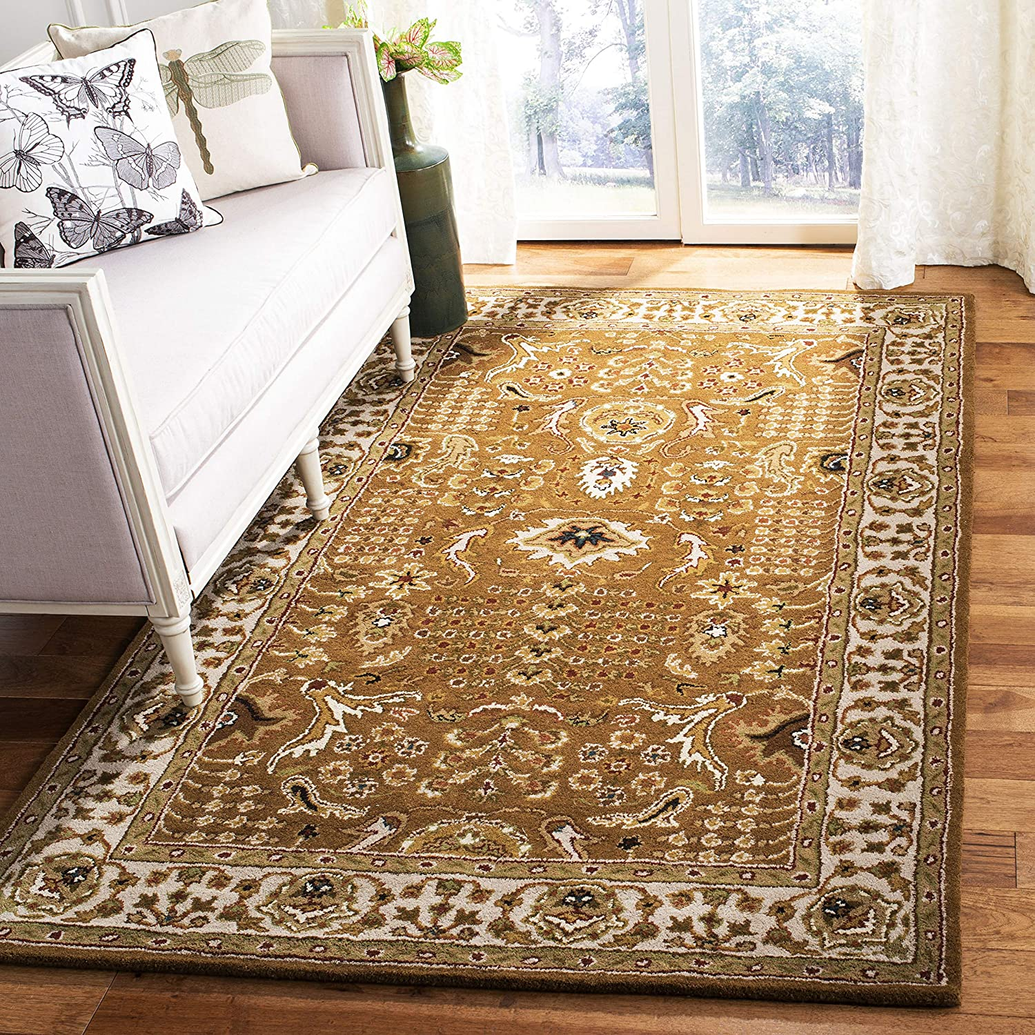 Safavieh Classic Collection Cl764a Handmade Traditional Oriental Premium Wool Area Rug 8 3 X 11 Gold Beige Furniture Decor