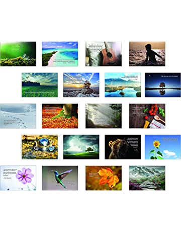 Inspirational Mindfulness Postcard Set of 20 postcards. 20 Different Motivational and Mindful Quotes