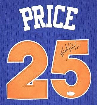 9a59357f1c0 ... switzerland mark price cleveland cavaliers autographed blue 25 jersey  size m jsa coa 384c3 17a34
