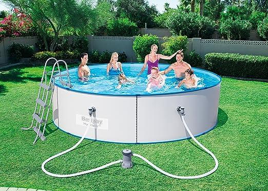Bestway 56377 Piscina Redonda de Chapa de Acero Reforzada Hydrium Splasher, M: Amazon.es: Deportes y aire libre