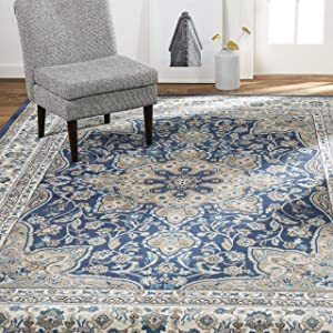 "Home Dynamix Tremont Magnolia Rug, 21""x35"" Rectangle, Navy/Ivory,8083-496-9"