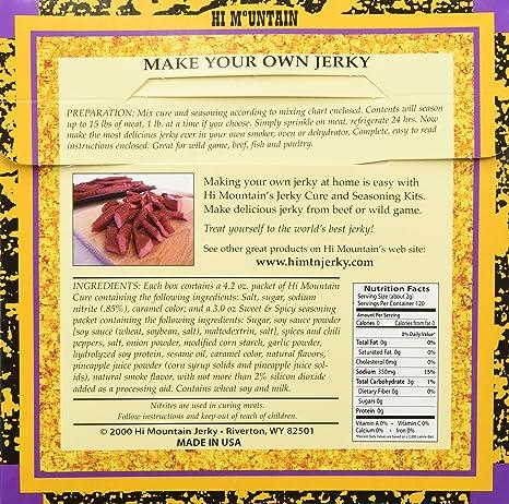 Amazon Hi Mountain Jerky Seasoning Sweet And Spicy Blend