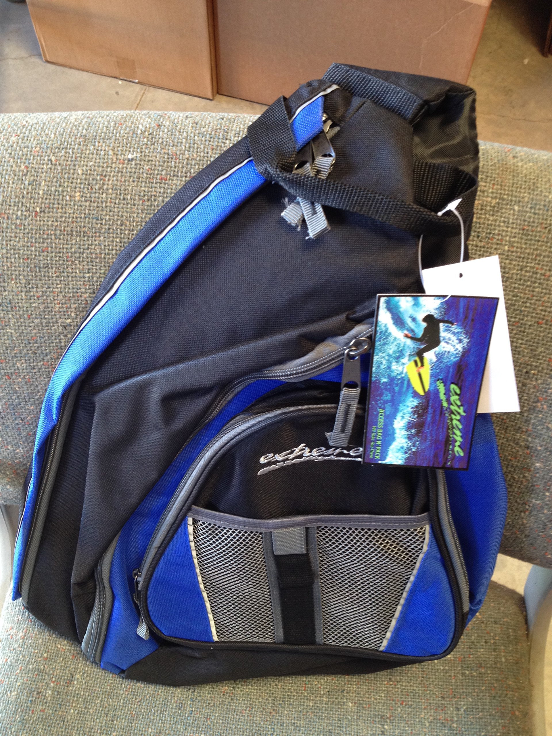 ACCESS EXTREME CROSS OVER STRAP BACKPACK #90212 Blue/Black/Grey