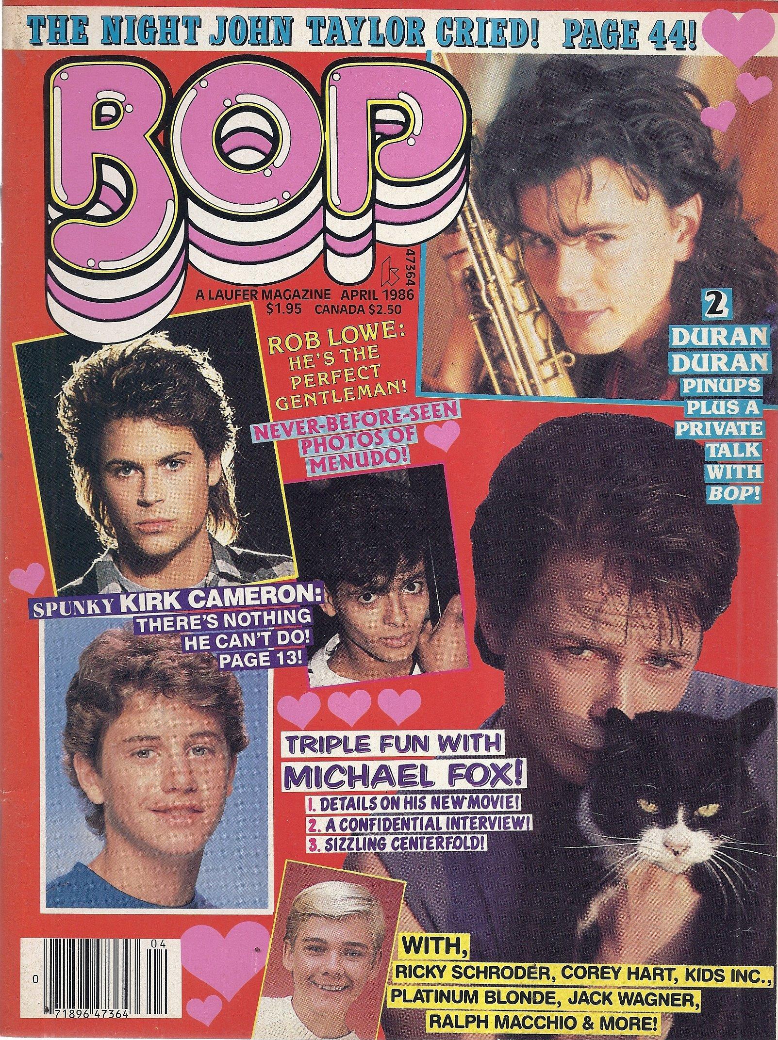 Bop Magazine (April 1986 - Duran Duran, Michael Fox, Kirk