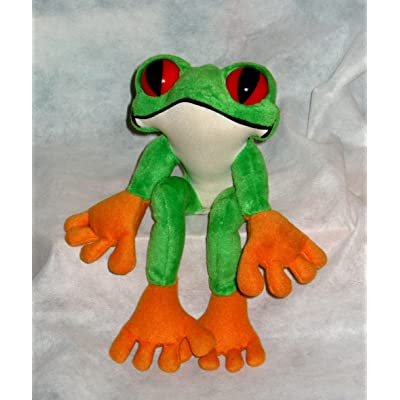 Rainforest Cafe ~ Cha Cha the Red Eyed Tree Frog ~ Plush Frog: Toys & Games