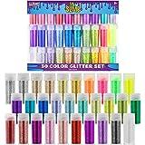 U.S. Art Supply My Slime Colors 30 Color Deluxe Glitter Shake Jars Set Kit - Extra Fine Glitter in Large 10 Gram Bottles…