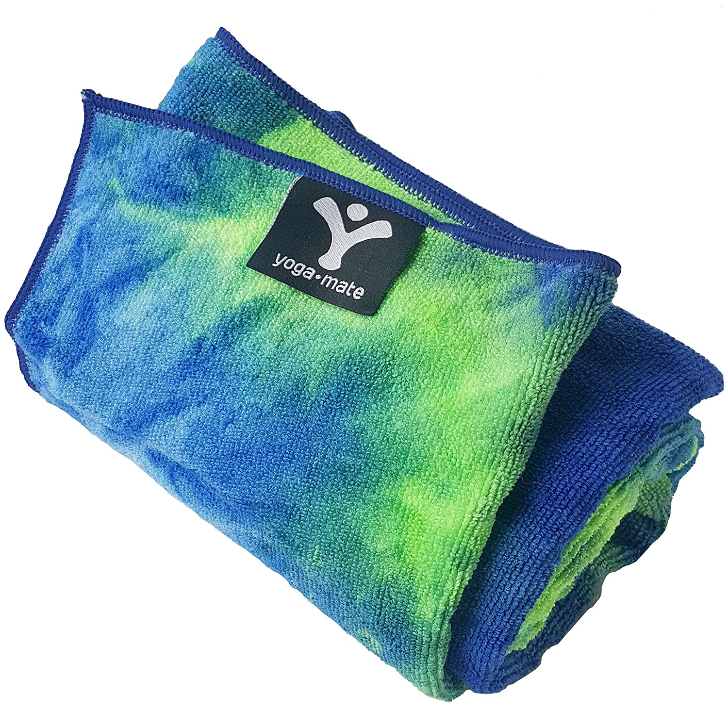 Yoga Mate Perfect Yoga Towel Super Soft Sweat Absorbent Non Slip Bikram Hot Yoga Towels | Perfect Size For Mat Ideal For Hot Yoga Pilates