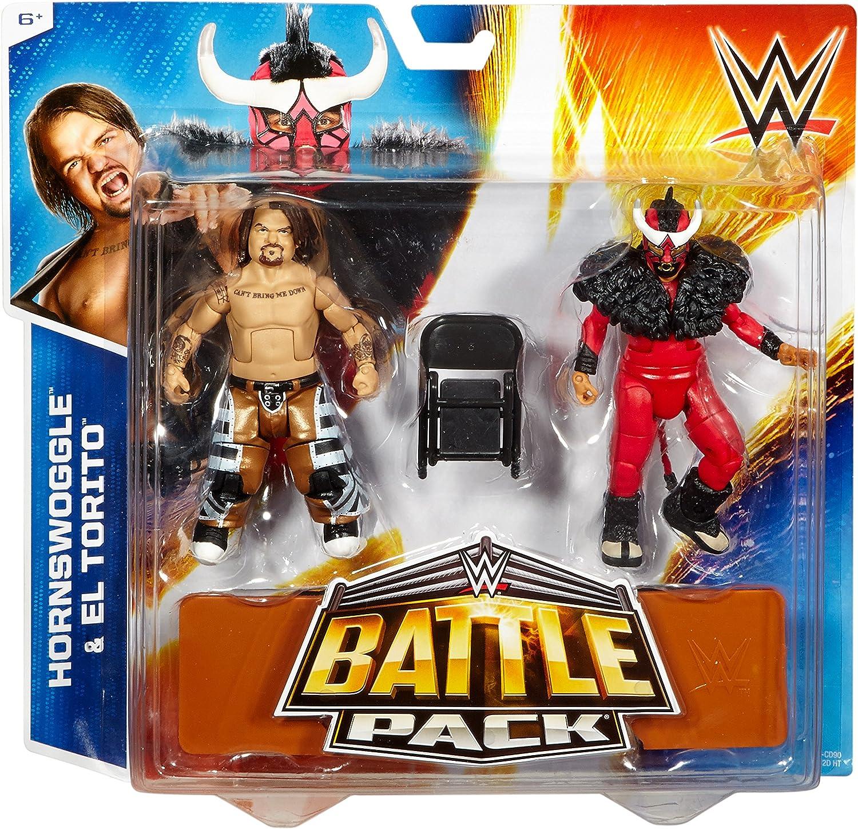 WWE Battle Pack Series 34 Action Figures - Hornswoggle & El Torito: Amazon.es: Juguetes y juegos