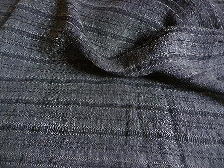 meraviglioso 3d Lino, tela mezcla lino, algodón, gris, negro, plástico, al metro: Amazon.es: Hogar