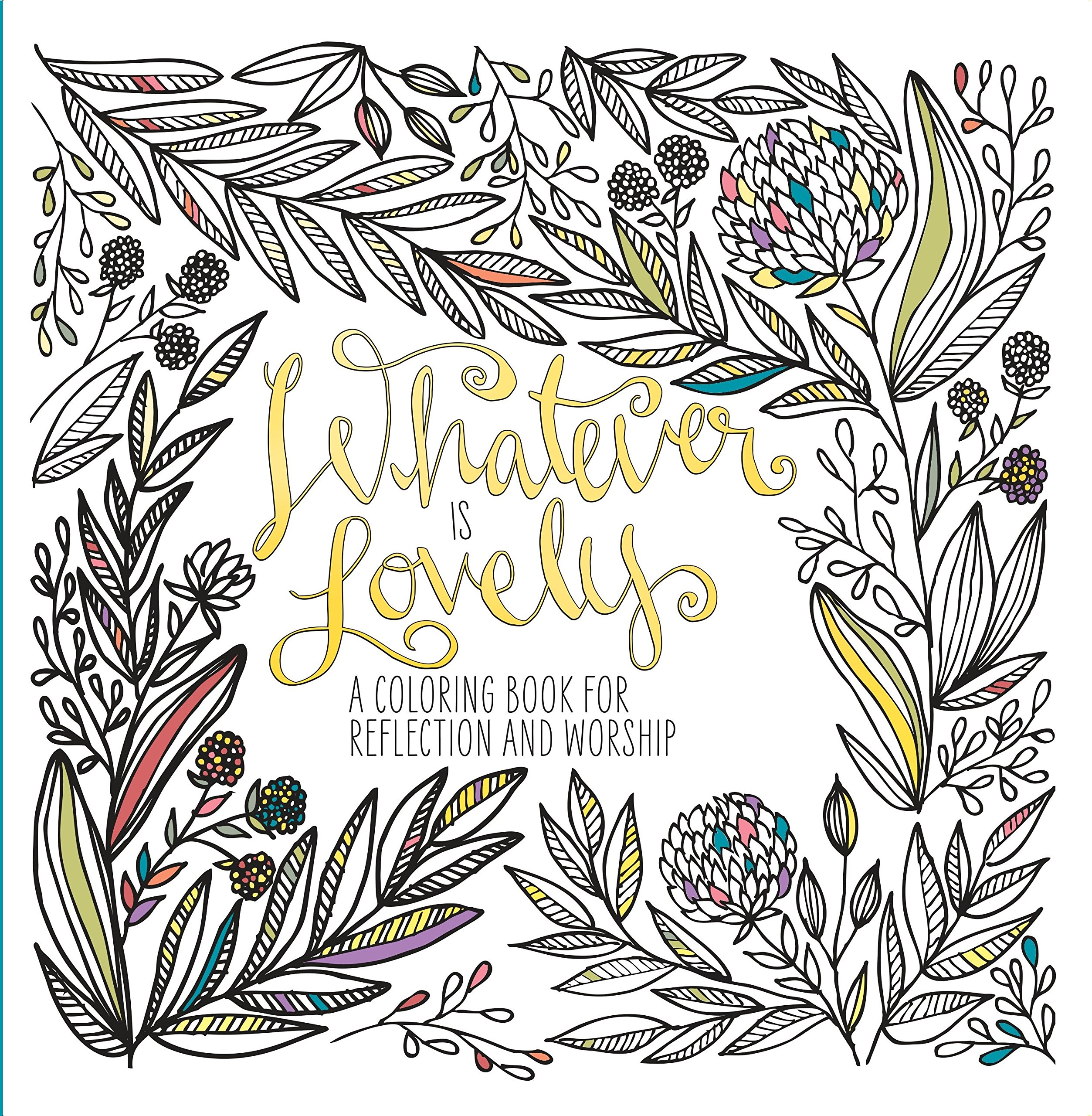 Whatever Is Lovely A Coloring Book For Reflection And Worship WaterBrook 9781601429285 Amazon Books
