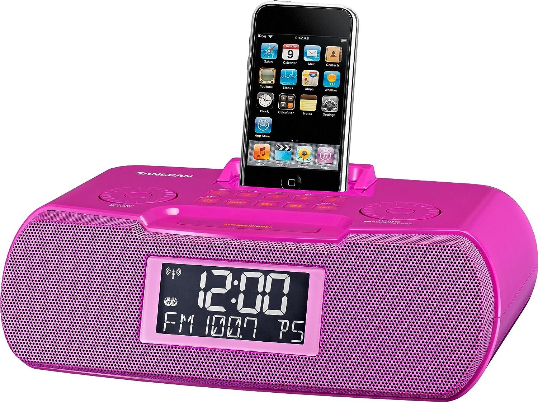 Sangean RCR-10 Reloj Digital Rosa - Radio (Reloj, Digital, AM,FM, 87,5-108 MHz, 520-1710 kHz, CT,PS,PTY,RT): Amazon.es: Electrónica