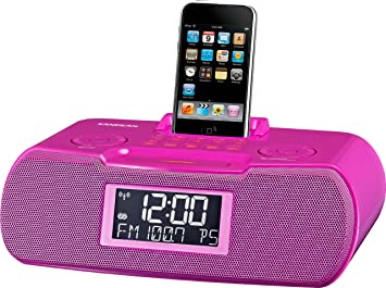Sangean RCR-10 Reloj Digital Rosa - Radio (Reloj, Digital, AM,