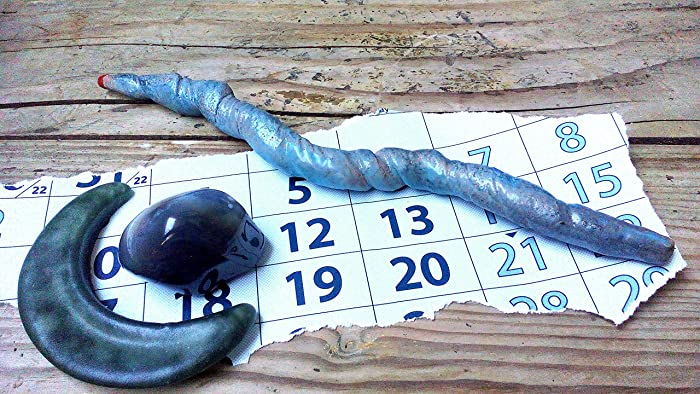 Amazon com: Ceramic blue wand, wiccan wands, wiccan ritual tool