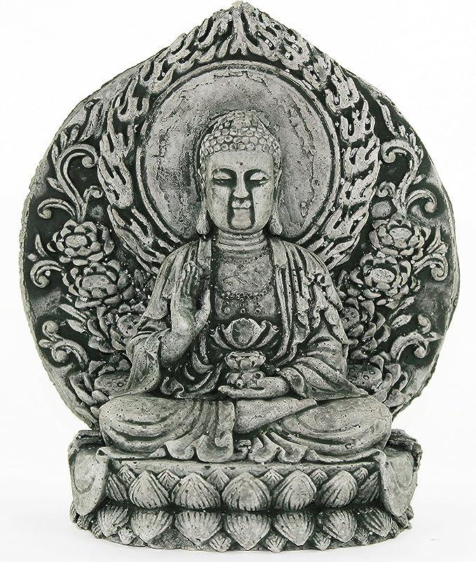 Amazon.com: Pequeño Sentado Estatua De Buda: Jardín y Exteriores