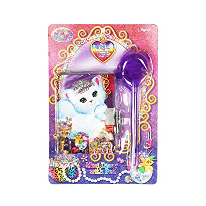 Amazon.com: Lisa Frank Mini – Agenda con bolígrafo: Toys & Games