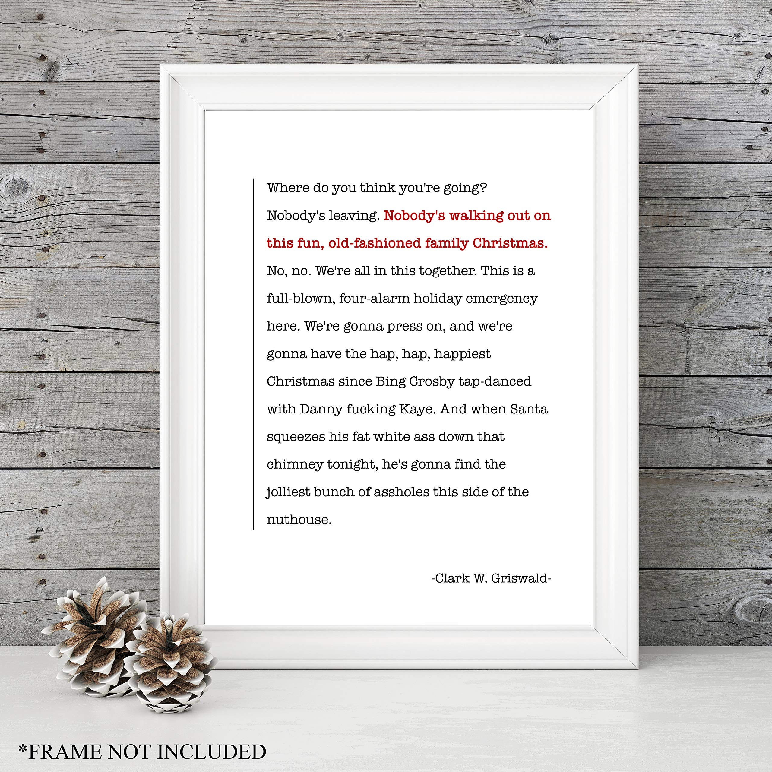clark griswolds epic speech national lampoons christmas vacation movie quote unframed 1114 art print great holiday gift