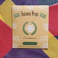 Bivax Wraps Food Wraps | Förpackning Med 8 | Handgjord I Europa Av Cambani (2 Små 2 Medelstora 2 Stora 2 Extra Stora…