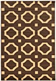 Linon Claremont Collection Octagon Beige Synthetic Rugs, 5' x7' , Brown