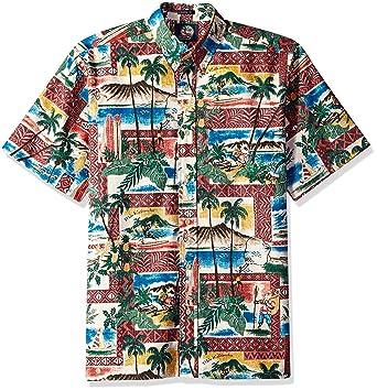 52f843fe Reyn Spooner Men's Christmas Spooner Kloth Classic Fit Shirt, 2018-Maroon,  ...