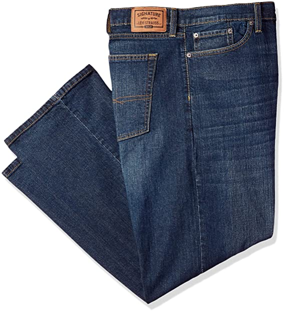 c3a94c6fd7e Signature by Levi Strauss & Co. Gold Label Men's Straight Fit Jeans,  Bigfoot,