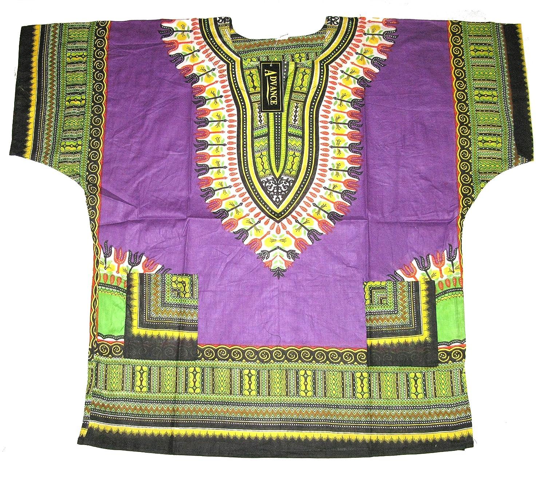 493dc01758b African Dashiki Shirts for Men and Women Traditional Print African Kente Summer  Wear Caftan Dresses BBQ Beach Party Shirt Fancy Dress - Purple  ...