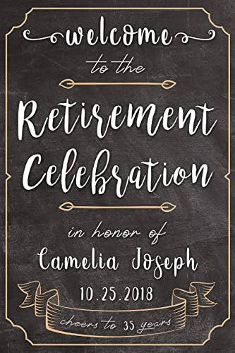 Chalkboard Retirement Party Welcome Sign, Black and White, Retirement  Banners and Signs, Happy Retirement Decorations, Retirement Gift Ideas,  Party ...
