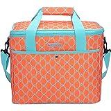 MIER Large Cooler Lunch Bag for Camping, Shopping, Gym, Travel, Picnic, 18L, Orange