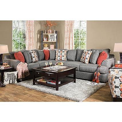Amazon.com: Furniture of America Posille Contemporary Grey ...